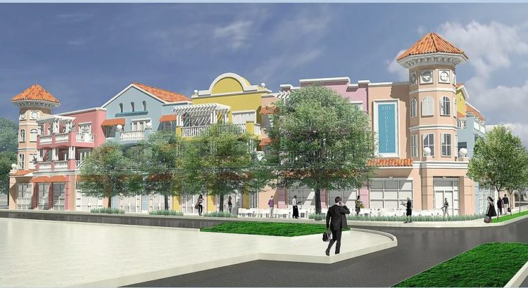 artists rendering of Courtyard on Main in Downtown Dunedin, Florida